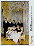 Vintage photo of Stefano Casiraghi, Mr. and Mrs. Casiraghi, furst Rainer III, Andrea, Charlotte and Princess Caroline of nyd246;pte son Pierre.