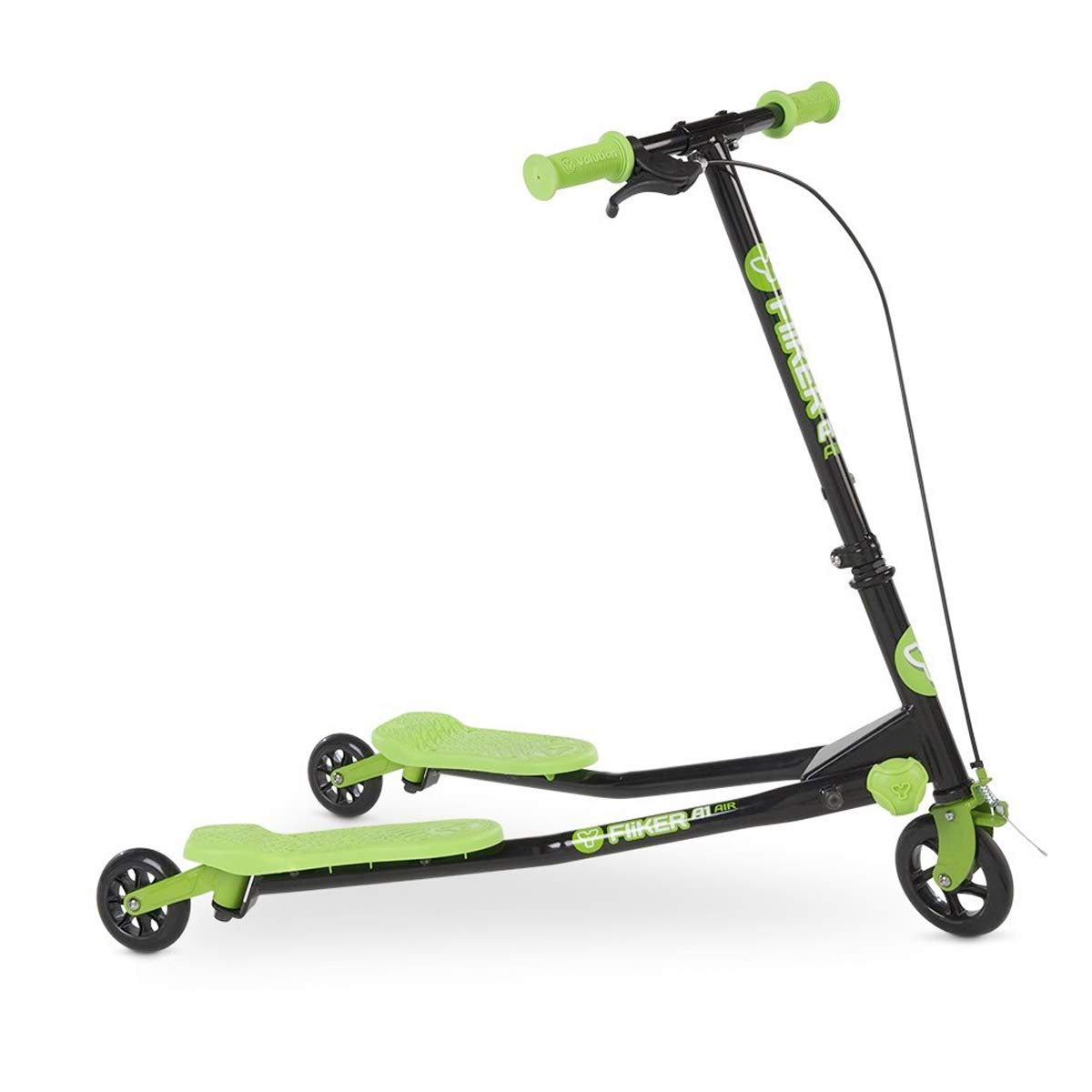 Y Fliker Scooter >> Amazon Com Yvolution Y Fliker A1 Kids Scooter Green Toys Games