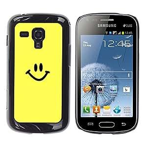 TopCaseStore / la caja del caucho duro de la cubierta de protección de la piel - Happy Smiley Face - Samsung Galaxy S Duos S7562