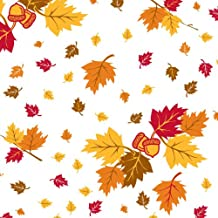 "Party Essentials Heavy Duty Printed Plastic Table Cover, 54 x 108"", Autumn Leaves"