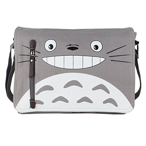 Innturt Anime Classic Messenger Bag Shoulder Bag Satchel (Totoro - Gray) (Totoro Phone Strap)