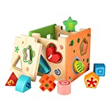 Image of Peradix Wooden Shape Sorter Preschool Educational Toy Color Shape Recognition Intelligence Toys Bricks
