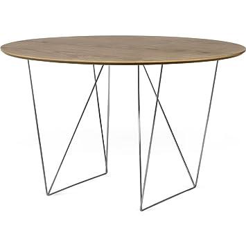 Amazon.com: TemaHome Fila 120 Ronda mesa de comedor | Nogal ...