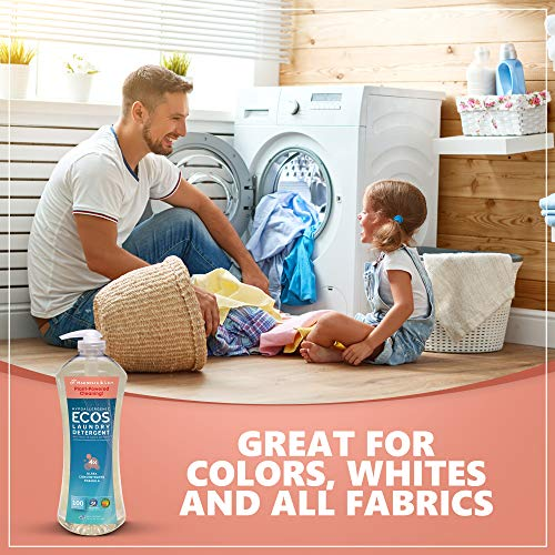 Earth Friendly Products Ecos 4X Ultra Concentrated Liquid Laundry Detergent, 200 Loads, 2 x 50 oz Magnolia & Lily (2Count) by Earth Friendly Products (Image #6)