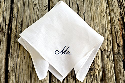 New Groom Hand Embroidered Handkerchief