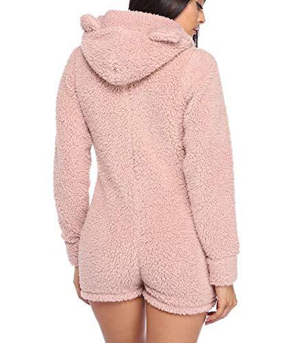 Domorebest Cat Felpa E Sleepwear Cappuccio Jumpsuit Womens Cute raRPwxqr