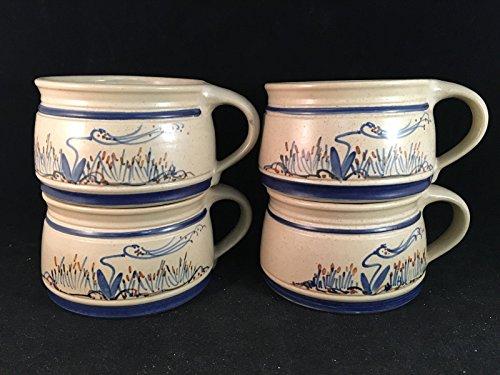 lot-of-4-cedar-swamp-country-handled-crocks-mugs-3-tall-4-1-2-diameter
