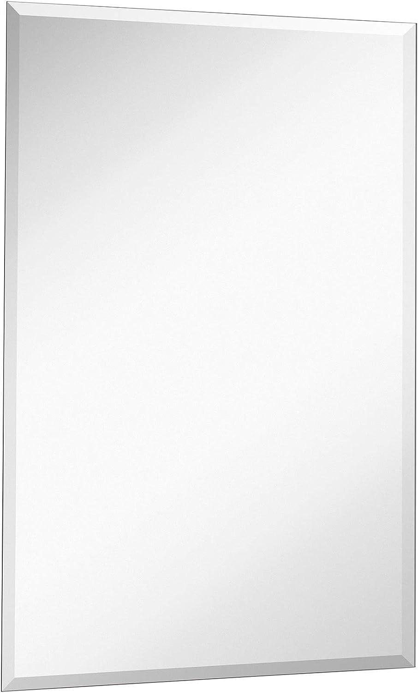 "Hamilton Hills New Frameless Lightweight Beveled Mirror 22"" x 30"" Wall Mirror for Bathroom Vanity with Bevel"