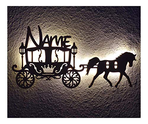 Princess Gifts for Adult Baby and Kids I Unique Carriage LED Night Light Personalized with Name for 3 4 5 6 Year Old Girls