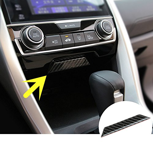 For Honda Civic Carbon Fiber Center Console Storage Box Cover 1pcs (Carbon Fiber Center Console)