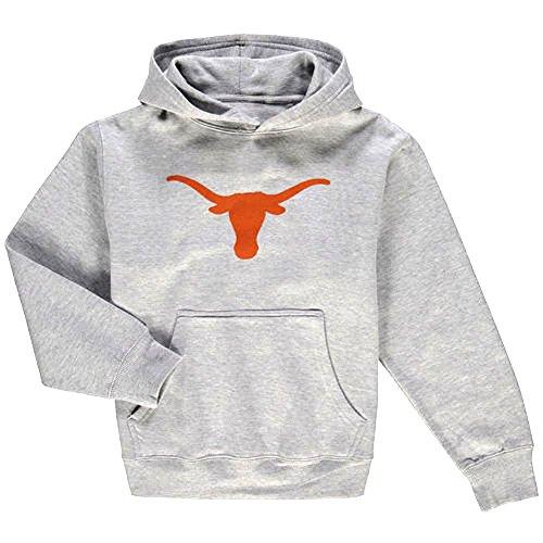 Texas Longhorns Grey Basic Silhouette Hoodie Sweatshirt 289c (Medium)