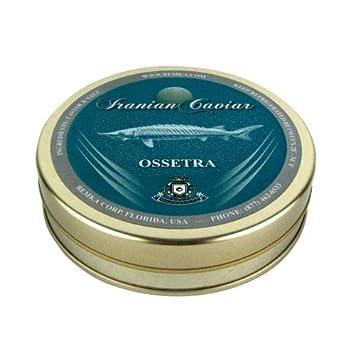 Bemka.com Iranian Ossetra Wild Caviar, 7-Ounce Tin
