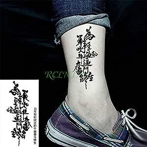 Handaxian 3pcsChino Estilo Impermeable Tatuaje Pegatinas Tatuaje ...