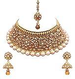 Sitashi Multi-Colour Gold-Plated Kundan Necklace Set For Women
