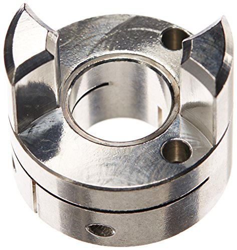 (Ruland MJC33-15-A Jaw Coupling Hub, Clamp Style, Polished Aluminum, 15mm Bore, 33.3mm OD, 44.5mm Length)