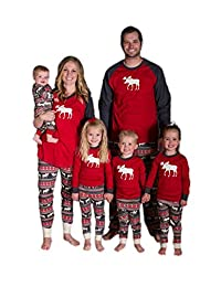 OMZIN Fashion Family Matching Christmas Sleepwear Nightwear Homewear Pajamas Set