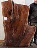 Figured Live Edge Coffee Table Natural Black Walnut Raw Wood Slab Unique Desktop Rustic Custom Furniture Unfinished Kitchen Island 5403x1