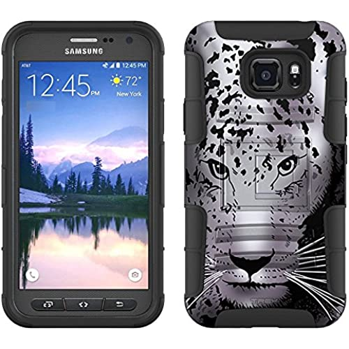 Samsung Galaxy S7 Active Armor Hybrid Case Snow Leopard 2 Piece Case with Holster for Samsung Galaxy S7 Active Sales
