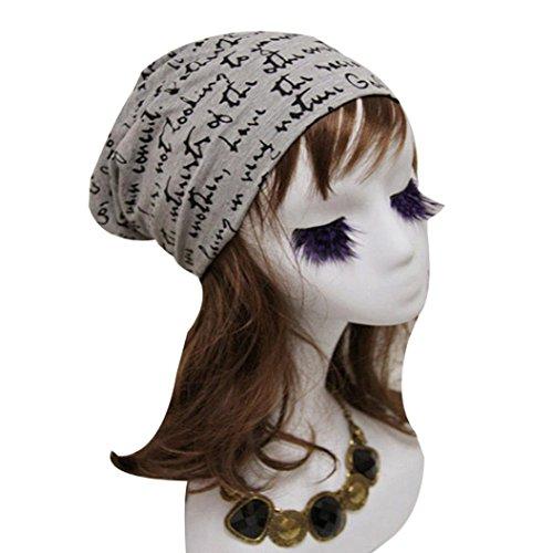 RNTOP Fashion Women Men Letter Print Hip-Hop Beanie Hat Baggy Unisex Ski Cap Skull ()