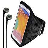 zte grand s ii unlocked - SumacLife Mesh Workout Armband for ZTE Grand X Max+ / ZMAX / Grand S3 / Blade S6 / Quartz / Max / S Pro / Prelude 2 + VanGoddy Headphones (Black)