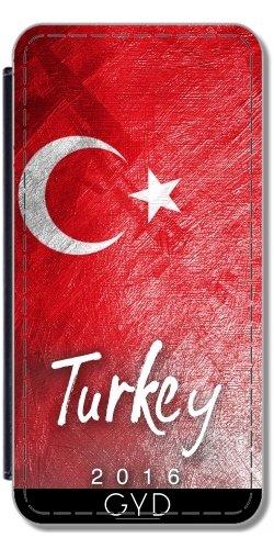 Leder Flip Case Tasche Hülle für Apple Iphone 7 Plus / 8 Plus - Die Türkei-Flagge by Julien Kaltnecker