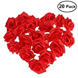 Foxnovo Artificial Rose Flower-20pcs(Red)