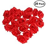 Foxnovo-Artificial-Rose-Flower-20pcsRed