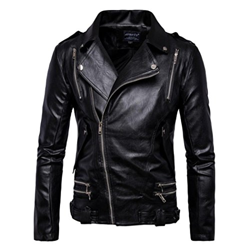Cheap Leather Motorcycle Jackets For Men - 1