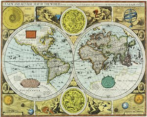1626 new accurate world map fantastic decorative poster 1626 quotnew accuratequot world map fantastic decorative poster poster size gumiabroncs Image collections