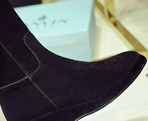 Bootie brown stivali sopra lunghi donne di termica ginocchio Casual 35 il 36 Cashmere maggiore Pendio camoscio con e nPg6ZZqW