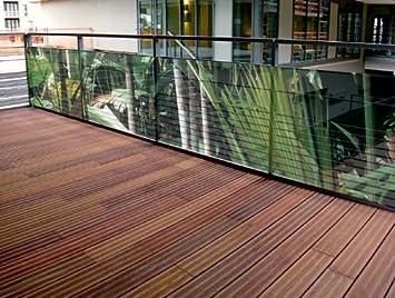 Brise vue de jardin imprimé plantes exotiques JUNGLE 500 cm ...