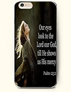 iPhone 6 Case,OOFIT iPhone 6 (4.7) Hard Case **NEW** Case with the Design of our eyes look to the lord our god till he shows us his mercy psalms 123:2 - Case for Apple iPhone iPhone 6 (4.7) (2014) Verizon, AT&T Sprint, T-mobile