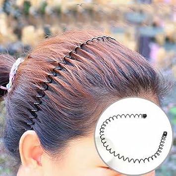 Haarreifen Stirnband Schwarz UNISEX Sport Aus Metall für Fussball Laufsport Lsv-8