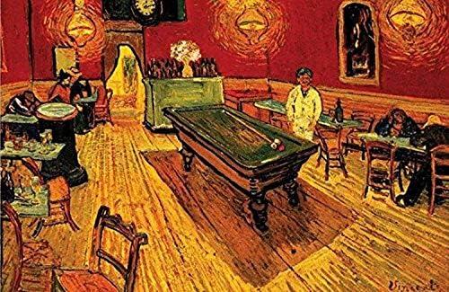 Buyartforless Night Cafe con Mesa de Billar de Vincent Van Gogh 24