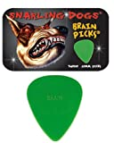 Snarling Dogs Brain TNSDB351, 0.53 Guitar Picks, 12-Piece, Collectible Tin, Green Nylon, 0, 0.53mm