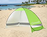 Automatic Pop up Beach Tent Sun Shelter for 2 Person with Case & Stakes