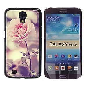 Paccase / SLIM PC / Aliminium Casa Carcasa Funda Case Cover para - Light Pink Rose Garden Bright Blossom - Samsung Galaxy Mega 6.3 I9200 SGH-i527