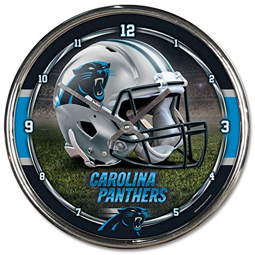 (Hall of Fame Memorabilia Carolina Panthers Round Chrome Wall)