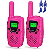 Gifts Teen Girls Boys, Dable Long Range Walkie Talkies Kids Toys 3-12 Year Old Boys Toys 3-12 Year Old Girls Gifts 3-12 Year Old Boy Gifts 3-12 Year Old Girls Pink DBXJB06