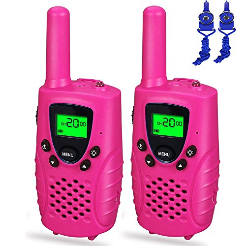 Gifts Teen Girls Boys, Dable Long Range Walkie Talkies Kids Toys 3-12 Year Old Boys Toys 3-12 Year Old Girls Gifts 3-12 Year Old Boy Gifts 3-12 Year Old Girls Pink DBXJB06 by Dable