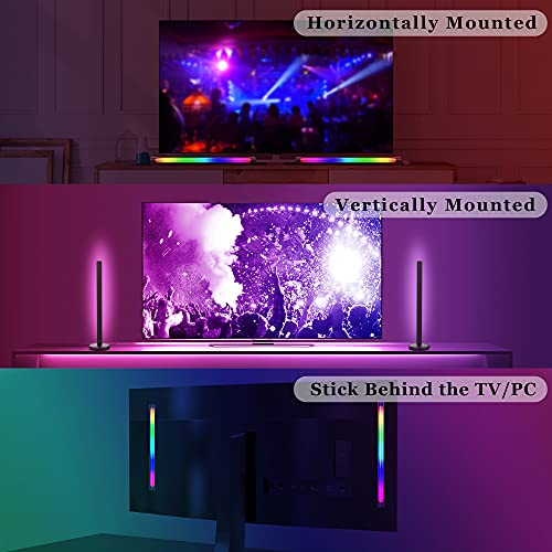 Aogled Smart LED Light Bars,Bluethooth RGB Light Bar with Multi-Modes & Timer,Music Sync Gaming Light Bar with App & Remote Control,Dimmable Color Changing Ambient TV Backlight for PC,Room Decoartion