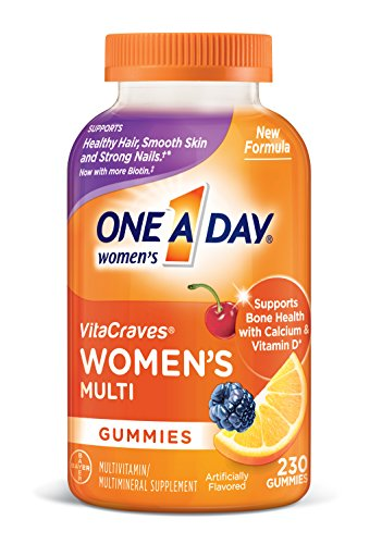 One A Day Women's Vitacraves Gummy Multivitamin with Calcium & Vitamin D, 230 Count