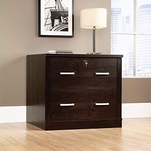 Sauder 408293 Office Port File Cabinet, L: 33.11'' x W: 23.47'' x H: 29.29'', Dark Alder finish by Sauder