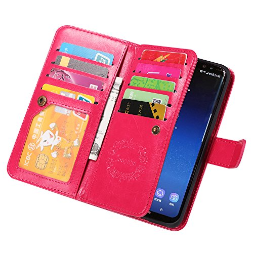 Cheap Wallet Cases Samsung S8 Case, Joopapa Galaxy S8 Wallet case, Pu Leather Magnet Stand..