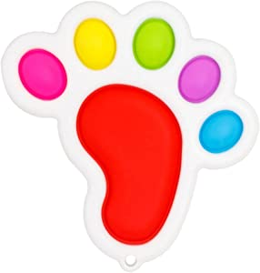 Baby Simplee Sensory Toys, Cute Baby Foot Shape Pushing Pop Simple Dimplee Fidget Toy for Kids, Tress Relief Anti-Anxiety Baby Foot Shape Silicone Flipping Board Sensory Fidget Toys for Children Adult
