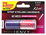 Kiss I Envy Super Strong Hold Black Eyelash Adhesive 0.176 Ounce (5gm)