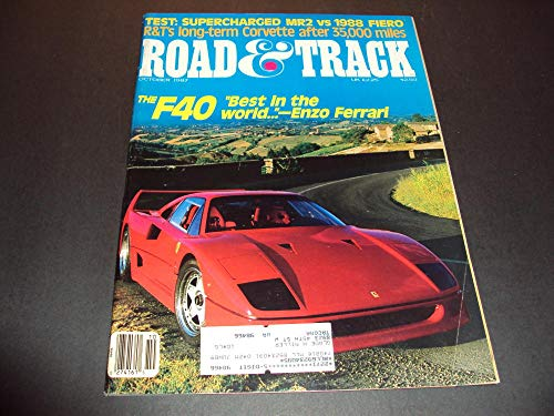 Road and Track Oct 1987 Supercharged MR2 vs 1988 Fiero