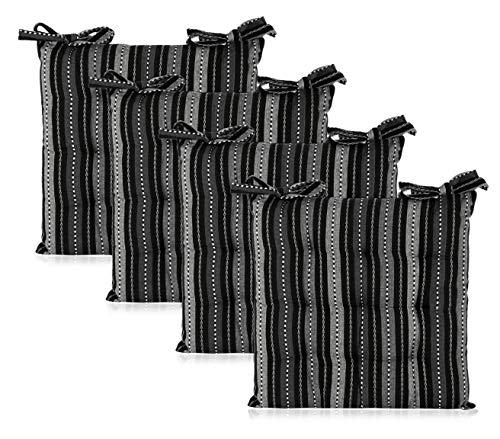 black chair cushion ties - 4