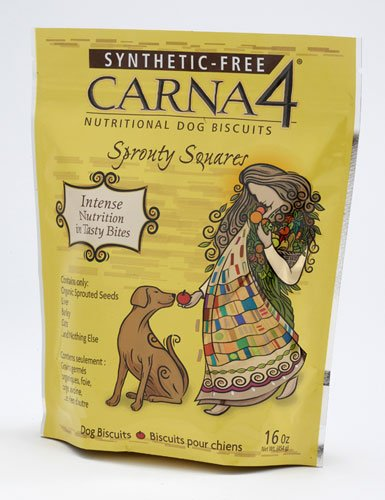 CARNA4 Sprouty Squares Nutritional Dog Biscuits, 16-Ounce