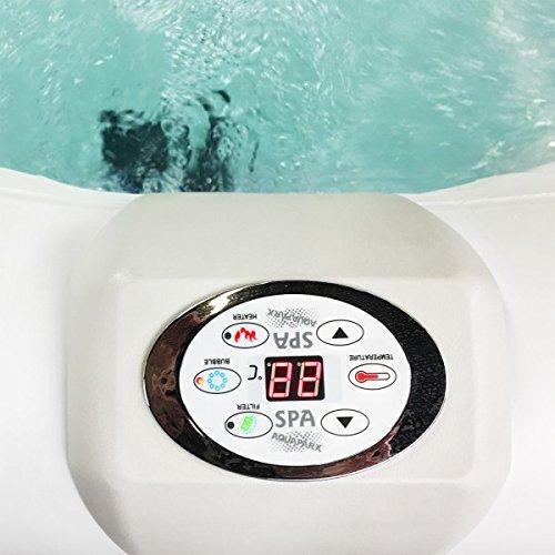 AQUAPARX Whirlpool AP-550SPA *oval 190x120cm* Pool 2Personen Wellness Spa Whirlpoolzubeh/ör Badewanne 2P Wanne Indoor Outdoor Heizung aufblasbar